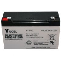 Y12-6L Yuasa Yucel 6v 12Ah Lead Acid Battery  Buy Online from The Battery Shop